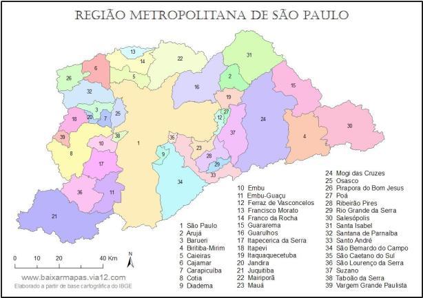 Região Metropolitana de São Paulo (RMSP): o conceito de região nos ajuda a compreender a lógica de organização natural e humana do espaço geográfico